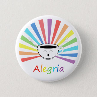 Coffee with feelings 6 cm round badge