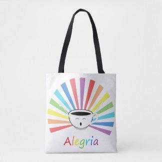 Coffee with feelings tote bag
