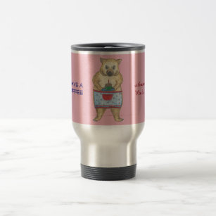 Coffee with momma Wombat Travel Mug