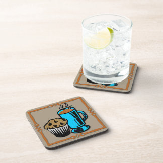 Coffee with Muffin Design Drink Coaster Set (6)