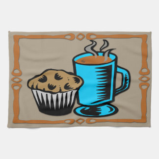 Coffee with Muffin Design Kitchen Towel