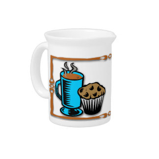 Coffee with Muffin Design Pitcher