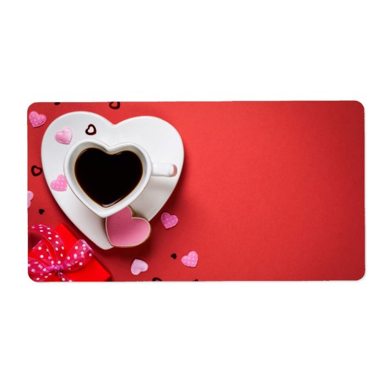 Coffee With Red Gift Box And Cookie