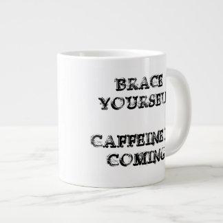 Coffee Wolf: Caffeine is Coming Large Coffee Mug