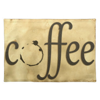 Coffee Writing Stain Placemat