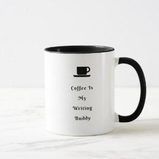 Coffee Writing Two-Tone Combo Mug Black White