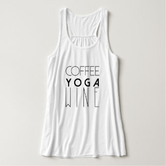 Coffee Yoga Wine | Chic Typography Singlet