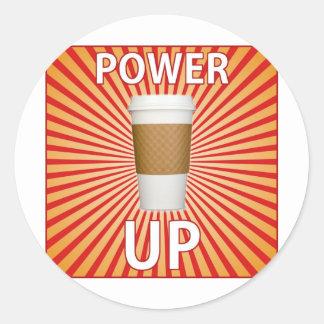 Coffee - Your Super Power! Round Sticker