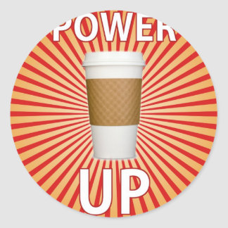 Coffee - Your Super Power! Round Stickers