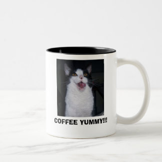 COFFEE YUMMY!!! Two-Tone COFFEE MUG