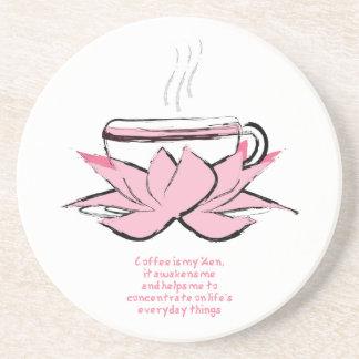 coffee zen sandstone coaster