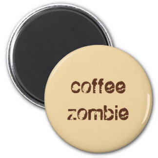 Coffee Zombie Button Magnet