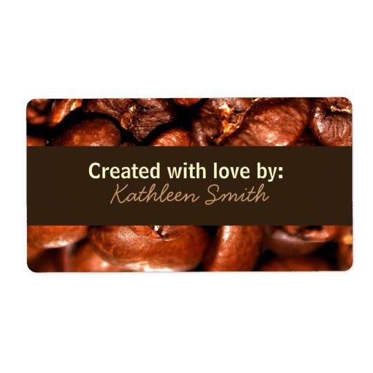 Coffeebeans Recipe/Goodies Label