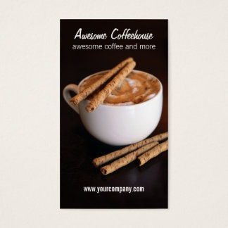 coffeehouse business card