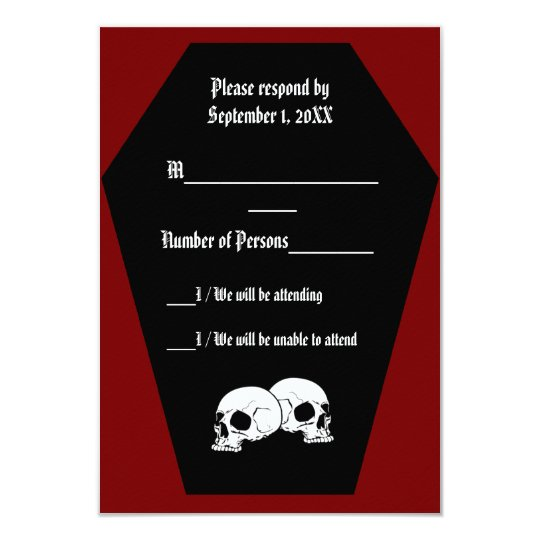 Coffin Ebony II (Red) RSVP Card