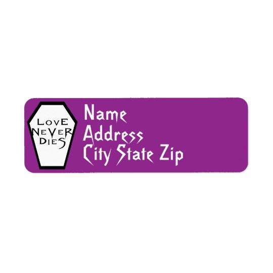 Coffin Ivory I (Purple) Return Label Return Address Label