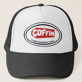 Coffin Skates oval Trucker hat