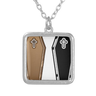 Coffins vector silver plated necklace