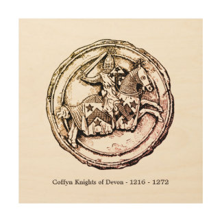 Coffyn Knights of Devon 1216 - 1272 Wood Print