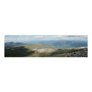 Cog Railway at the Top of Mt. Washington Panorama Poster