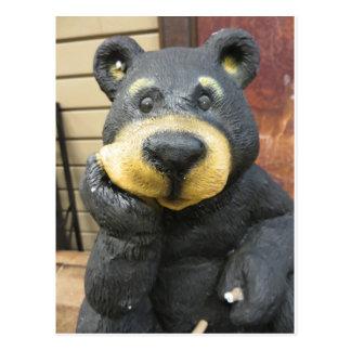 Cogitating Bear Postcard