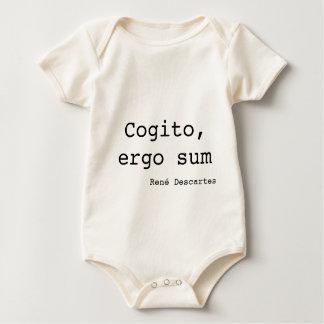 Cogito and ergo sum baby bodysuit