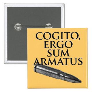 Cogito, Ergo Sum Armatus Buttons