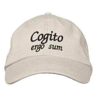 Cogito ergo sum I think therefore I am Baseball Cap