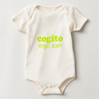 Cogito ergo sum Penso, logo existo I think, theref Baby Bodysuit