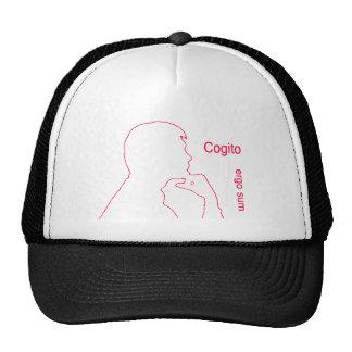 Cogito ergo sum Penso, logo existo I think, theref Mesh Hat
