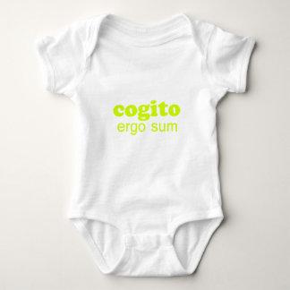 Cogito ergo sum Penso, logo existo I think, theref T Shirts