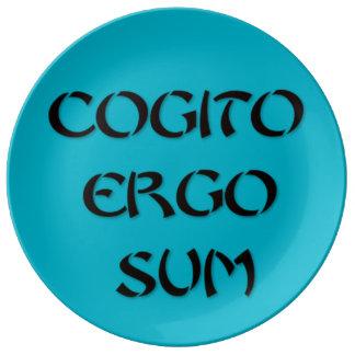 Cogito Ergo Sum Porcelain Plates