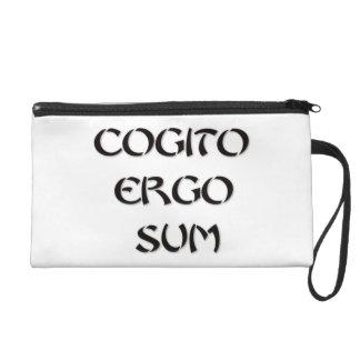 Cogito Ergo Sum Wristlet
