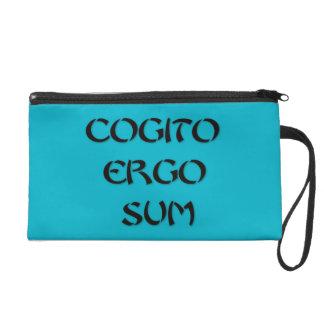 Cogito Ergo Sum Wristlet Clutch
