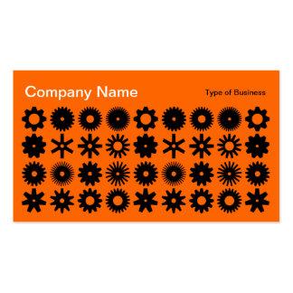 Cogs - Black on Orange Pack Of Standard Business Cards