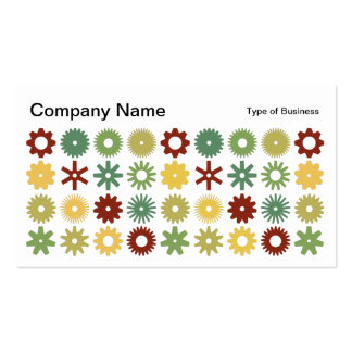 Cogs - Colors 03 Business Card Templates