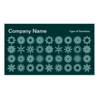 Cogs - Shades of Green 02 Business Card Template