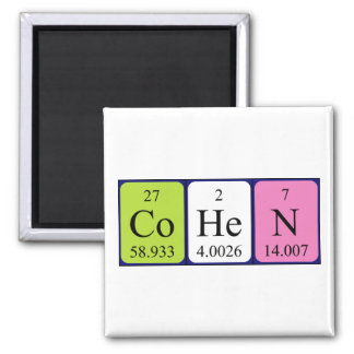 Cohen periodic table name magnet