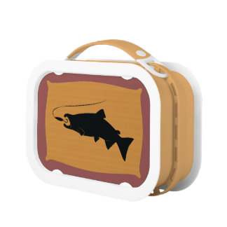 Coho Salmon on Wall Mount Lunch Box