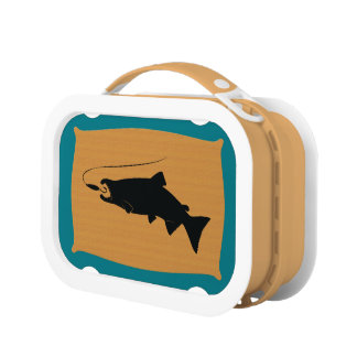 Coho Salmon on Wall Mount Lunch Boxes