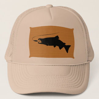 Coho Salmon on Wall Mount Trucker Hat