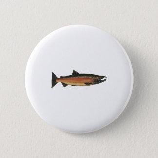 Coho - Silver Salmon (spawning phase) 6 Cm Round Badge