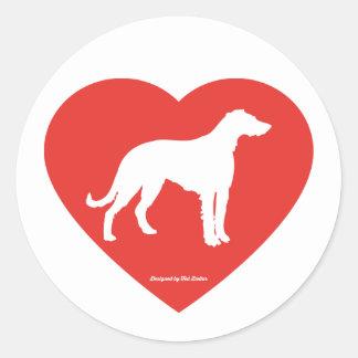 Coil Irish Wolfhound Round Sticker