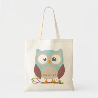Coil is owl tote bag