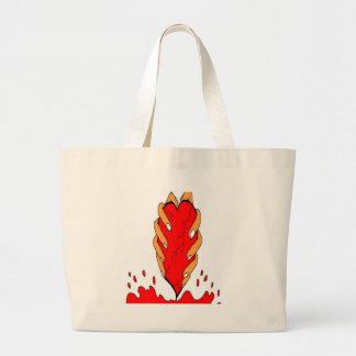 coil me large tote bag