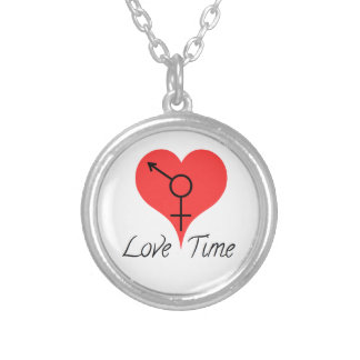 coil time silver plated necklace