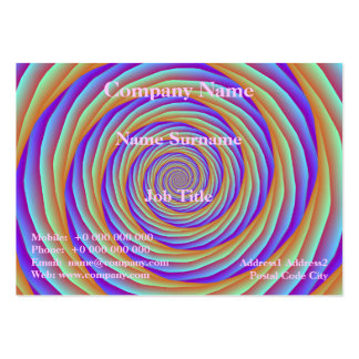 Coiled Cables in Orange Blue and Pink Card Pack Of Chubby Business Cards
