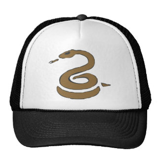 Coiled Snake Mesh Hats