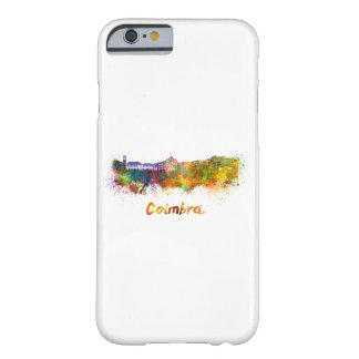 Coimbra skyline in watercolor barely there iPhone 6 case