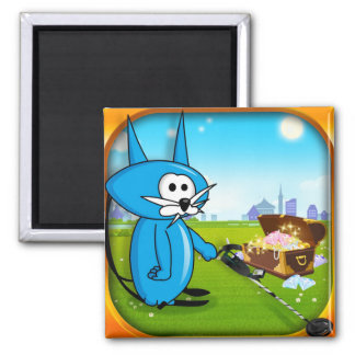 Coin Cat Riches Metal detector Magnet! Square Magnet